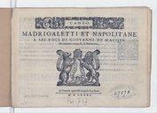 Image from object titled Madrigaletti et napolitane a sei voci... novamente composti & dati in luce