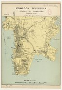 Kowloon Peninsula, Colony of Hongkong (Corrected to 1926). Scale 1400 ft. = 1 inch [1 : 17 500 ]. Drawn and Engraved for the Directory & Chronicle