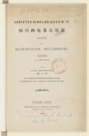 Carte du Se-tch'ouan occidental levée en 1908-1910 / par le R. P. François ; Roux...[Avec une préface signée J. de Moidrey, S. J.]