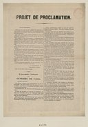 "Image from object titled ""Projet de Proclamation"" de l'Assemblée Nationale"