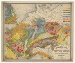 Geologische Karte von Central Europa... (Dritte Auflage) / von Heinrich Bach, 1859