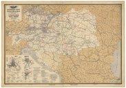 Eisenbahn-Karte der österreichisch-ungarischen Monarchi / e, zusammengestellt, gezeichnet und herausgegeben von Josef Beer, ,...