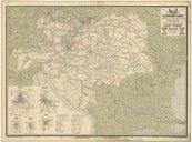 Az osztráz-magyar birodalom vasuti térképe; Eisenbahn-Karte der oesterreichisch-ungarischen Monarchie (III. Auflage) / zusammengestelt... von Josef Beer, ... ; Druck von Eduard Sieger, ...