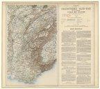 Carte de la frontière sud-est de la France, Jura et Alpes, par un officier d'état-major. ..