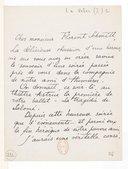 Image from object titled [Lettre de Jean Veber à Florent Schmitt, (sans date)] (manuscrit autographe)