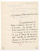 Image from object titled [Lettre de Emile Verhaeren à Florent Schmitt, (sans date)] (manuscrit autographe)