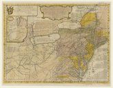 A general map of the middle british colonies in America, viz Virginia, Mariland, Delaware, Pensilvania, New-Jersey, New-York, Connecticut and Rhode Island, of Aquanishuonigy, the country of the Confederate indians...