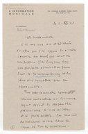 Image from object titled [Lettre autographe signée de Robert Bernard à Germaine Cernay, Paris, 21 décembre 1943] (manuscrit autographe)