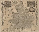 Image from object titled The Royal Map of England : Containing not only ye Citties, Market & all Parliament Townes, but also the Rivers, Highwaies, Seaports, & many other place of Remark / [Robert Greene] ; F. Lamb sculp.