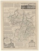 An Accurate Map of Cambridgeshire divided into its Hundreds : Drawn from surveys, assisted by the most approved modern maps, with variety of improvements illustrated with historical extracts relative to the soil, air,...