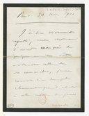 Image from object titled [Lettre de Camille Saint-Saëns à Florent Schmitt, Paris, 30 novembre 1900] (manuscrit autographe)