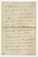 Image from object titled [Lettre de Camille Saint-Saëns à Florent Schmitt, St Germain en Laye, 17 juillet 1900] (manuscrit autographe)