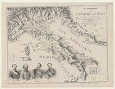 Vue panoramique de l'Autriche et de l'Italie avec leurs anciennes divisions pour suivre les opérations de la guerre. Juin 1866 / Dessinée et lithographiée par L. Lebreton