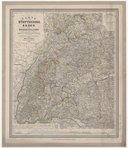 Karte von Württemberg, Baden und Hohenzollern nebst den angrenzenden Ländertheilen durchaus nach den grösseren topographischen Karten bearbeitet... 1 : 450 000 / von Heinrich Bach, ...