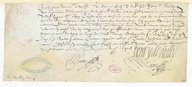 Image from object titled [Reçu, 10 Novembre 1623] (manuscrit autographe)