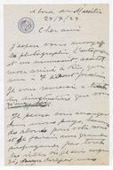 Image from object titled Fonds Henry Prunières. Correspondance reçue par Henry Prunières. Correspondants S-W. Villa-Lobos, Heitor