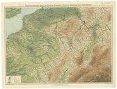 Bartholomew's Map of North-Eastern France, Belgium and the Rhine