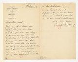 Image from object titled [Lettre de Camille Chevillard à Florent Schmitt, Paris, 22 janvier 1918] (manuscrit autographe)
