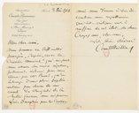 Image from object titled [Lettre de Camille Chevillard à Florent Schmitt, Paris, 3 décembre 1918] (manuscrit autographe)