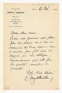 Image from object titled [Lettre de Camille Chevillard à Florent Schmitt, Paris, 17 décembre 1920] (manuscrit autographe)