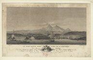Le fort royal dans l'isle de la Martinique vu du mouillage / N[icolas] Ozanne del[ineavit] ; J[oanna] fr[ances]ca Ozanne sculp[sit]