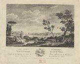 Le port d'Antibes vu de la campagne du côté de l'ouest / N[icolas] Ozanne del[ineavit] ; Mr. Le Gouaz sculp[sit]