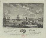 Le port neuf de Toulon vu de dessus le vieux môle / N[icolas] Ozanne del[ineavit] ; Y. Le Gouaz sculp[sit]