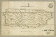 Plano corografico de la isla de Sn. Juan Bautista de Puerto Rico / N. Currier's lith. ; Alexander Jourdan direxit