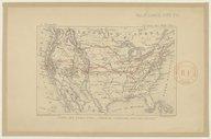 Carte des Étas-Unis. Tracé de l'itinéraire suivi par l'auteur / gravé par E. Morieu,...
