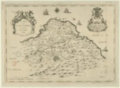 A Map of East Lothian : To The Most Honourable John Marquis of Tweeddale… This Map of East Lothian Is Most humbly Dedicated By His Most Ob.d.t & Most humble Servant Rich.d Cooper / Survey'd by Mr J. Adair…