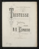 Image from object titled Tristesse, nocturne pour le piano. Op. 53 / N. R. Espadero