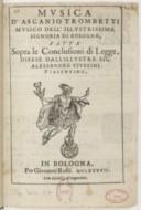 Image from object titled Musica... fatta sopra le conclusioni di legge...