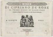 Image from object titled Il primo libro di madrigali cromatici a cinque voci novamente con ogni diligentia ristampato...