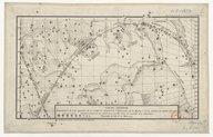 Carte céleste représentant la route apparente de la comète découverte... le 13 octobre.. . 1773... / gravé par Y. Le Gouaz ; d'après le dessin de M. Messier