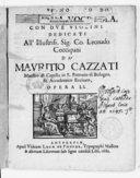 Image from object titled Motteti a voce sola, con due violini...da Mauritio Cazzati,... opera LI
