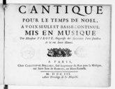 Image from object titled Cantique pour le temps de Noël à voix seule et basse continue...