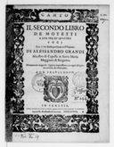 Image from object titled Il secondo libro de motetti a due tre et quattro voci, di Alessandro Grandi,.... Novamente in questa quinta impressione con ogni diligenza corretti, et ristampati...