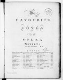 Image from object titled The favourite songs in the opera Nitetti...