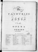 Image from object titled The favourite songs in the opera Perses, by sig.r Sacchini