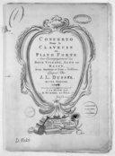 Image from object titled Concerto pour le clavecin ou piano-forte avec l'accompagnement des deux violons, alto et basse, deux hautbois et cors ad libitum... Oeuvre Ier. Libro II