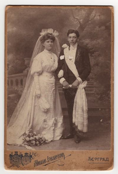 Image from object titled Wedding photograph of Milan Vujić' bride