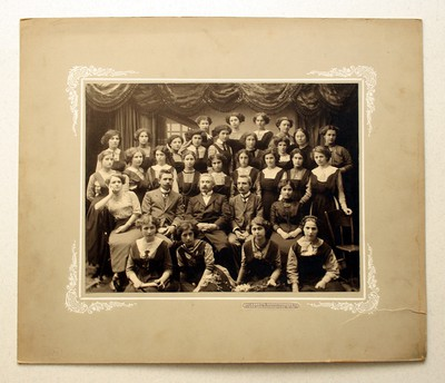 Image from object titled Group portrait of teachers and students