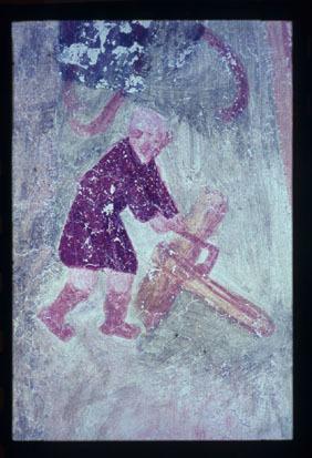 Image from object titled Pristava pri Polhovem Gradcu - Cerkev sv. Elizabete, freske, fotografija