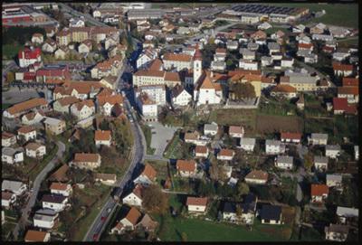 Image from object titled Lenart v Slovenskih goricah - Mesto (pogled iz zraka), fotografija