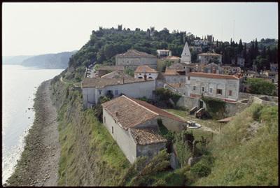 Image from object titled Piran - Mestno jedro (pogled iz zraka), fotografija