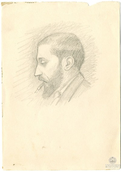 Image from object titled Cabeza de hombre fumando