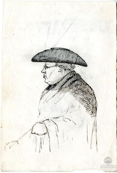 Image from object titled Clérigo con sombrero y manteo