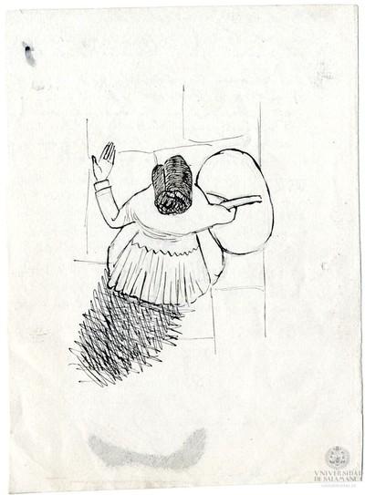 Mujer con cesta