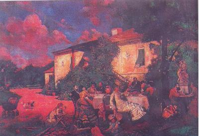 Theodor Aman - Petrecere în familie