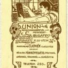 Céghirdető kártya - Union Foto-czinkográfiai Műintézet, Budapest